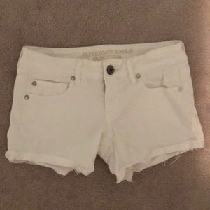 White American Eagle Jean Shorts